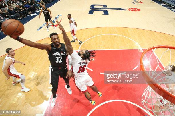 Jeff Green of the Washington Wizards shoots the ball against the Miami Heat on March 23 2019 at Capital One Arena in Washington DC NOTE TO USER User...