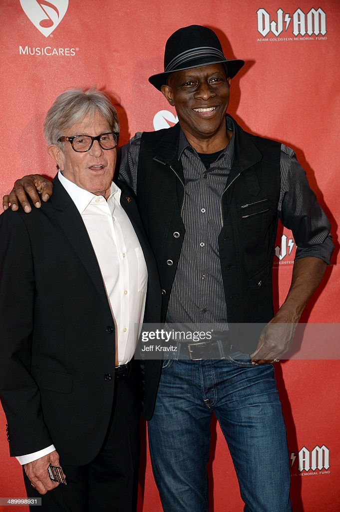 Jeff Greenberg and Keb' Mo' arrives at the 2014 10th annual MusiCares MAP Fund Benefit Concert at Club Nokia on May 12, 2014 in Los Angeles, California.