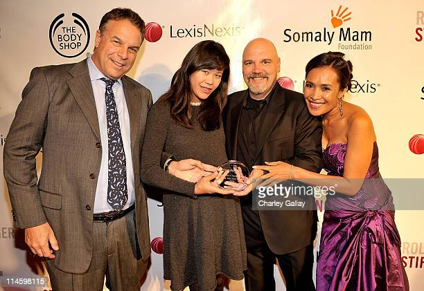 Jeff Greene Mei Sze Greene Executive director Bill Livermore and founder Somaly Mam arrive at the Somaly Mam Foundation's 2nd annual Los Angeles Gala...