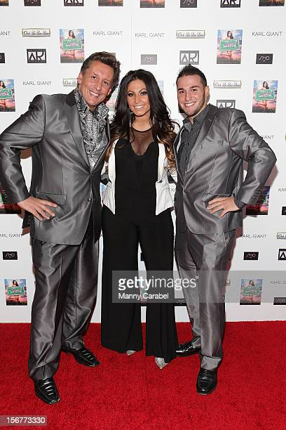Jeff Greenfield Tracy DiMarco and Corey Eps all from Jerseylicious attend The Glamour State225 Years Of Stylish Innovation Book Launch Party on...