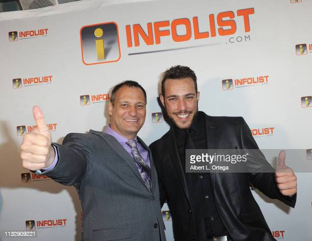 Jeff Gund and Lucas Lockwood arrive for PreOscar Soiree Hosted By INFOListcom and Birthday Celebration for Founder Jeff Gund held at SkyBar at the...