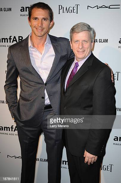 Jeff Hall and Larry Boland attend the amfAR Inspiration Miami Beach Party at Soho Beach House on December 6 2012 in Miami Beach Florida