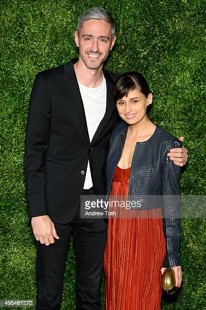 Jeff Halmos and Lisa Mayock attend the 12th annual CFDA/Vogue Fashion Fund Awards at Spring Studios on November 2, 2015 in New York City.