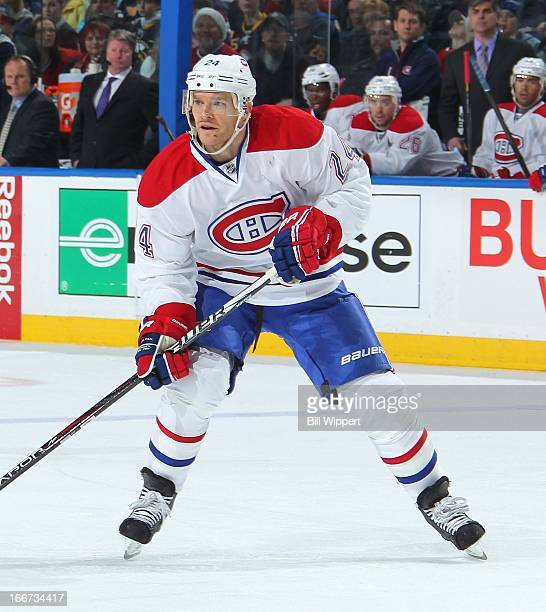 Jeff Halpern of the Montreal Canadiens skates against the Buffalo Sabres on April 11 2013 at the First Niagara Center in Buffalo New York