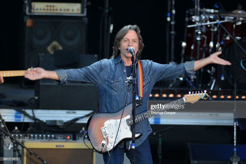 Jeff Hanna of the Nitty Gritty Dirt Band performs during The Rocky Mountain Way honoring inductee's into the Colorado Music Hall of Fame event at Fiddler's Green Amphitheatre on August 13, 2017 in Englewood, Colorado.