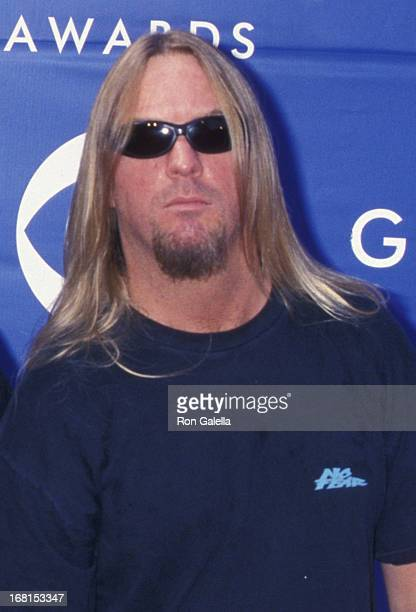 Jeff Hanneman of Slayer attends Foundation Awards on October 3 1991 at the Airport Marriott Hotel in Los Angeles California