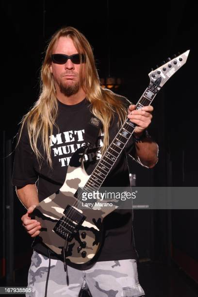 Jeff Hanneman of Slayer poses for a portrait at Revolution on May 11 2002 in Fort Lauderdale Florida