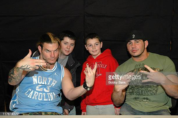 Jeff Hardy guests and Matt Hardy during WWE Stars Jeff Hardy and Matt Hardy Sign Autographs at Bookends Bookstore in Ridgewood New Jersey at Bookends...