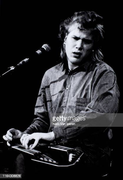 Jeff Healey Band, performing on stage, Paradiso, Amsterdam, Netherlands, 12th January 1988.
