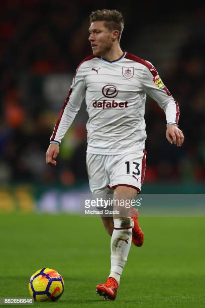 Jeff Hendrick of Burnley during the Premier League match between AFC Bournemouth and Burnley at the Vitality Stadium on November 29 2017 in...