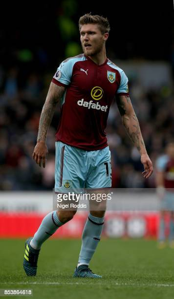 Jeff Hendrick of Burnley during the Premier League match between Burnley and Huddersfield Town at Turf Moor on September 23 2017 in Burnley England