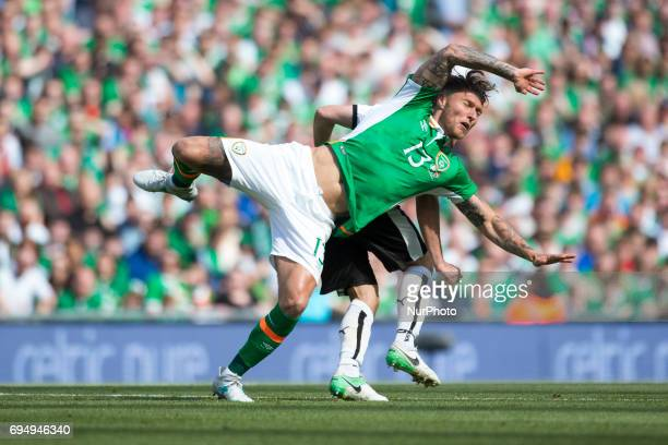 Jeff Hendrick of Ireland in action during the FIFA World Cup 2018 Qualifying Round Group D match between Republic of Ireland and Austria at Aviva...
