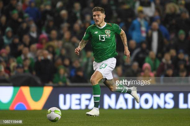 Jeff Hendrick of Ireland in action during the UEFA Nations League B Group Four match between Ireland and Denmark at Aviva Stadium on October 13 2018...