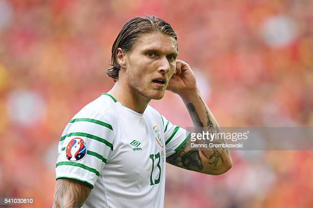 Jeff Hendrick of Republic of Ireland looks on during the UEFA EURO 2016 Group E match between Belgium and Republic of Ireland at Stade Matmut...