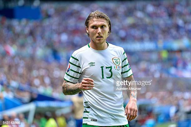 Jeff Hendrick of the Republic of Ireland reacts during the UEFA Euro 2016 round of 16 match between France and the Republic of Ireland at Stade des...