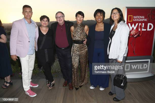 Jeff Hephner Antonia Juhasz Stephen Petranek Jihae Mae Jemison and Dee Johnson attend the National Geographic's Annual Summer Party at Waldorf...