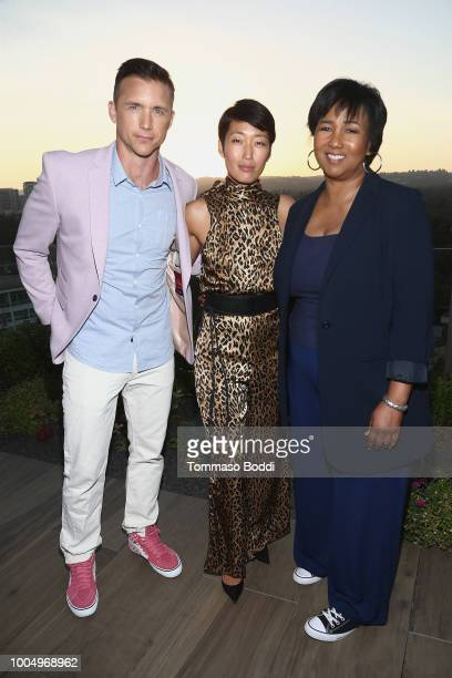 Jeff Hephner Jihae and Mae Jemison attend the National Geographic's Annual Summer Party at Waldorf Astoria Beverly Hills on July 24 2018 in Beverly...