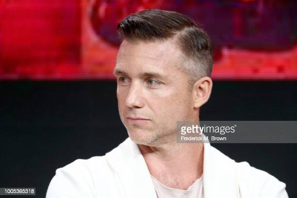 Jeff Hephner of 'Mars' speaks onstage during the National Geographic portion of the Summer 2018 TCA Press Tour at The Beverly Hilton Hotelon July 25...