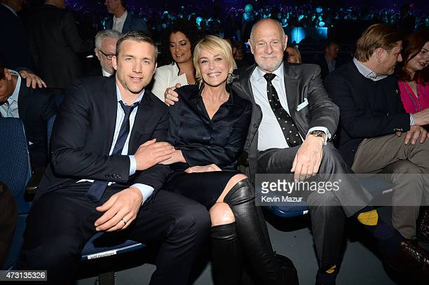 Jeff Hephner Sharon Stone and Gerald McRaney attend the Turner Upfront 2015 at Madison Square Garden on May 13 2015 in New York City...
