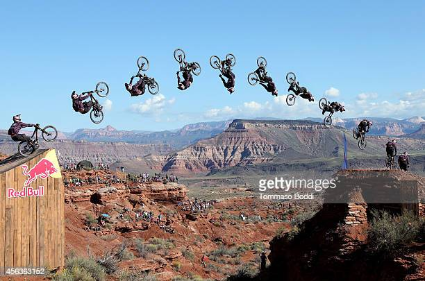 Jeff Herbertson competes in the finals during the Red Bull Rampage 2014 on September 29 2014 in Virgin Utah