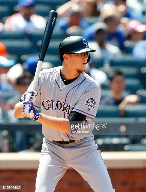 Jeff Hoffman of the Colorado Rockies in action against the New York Mets on July 16 2017 at Citi Field in the Flushing neighborhood of the Queens...
