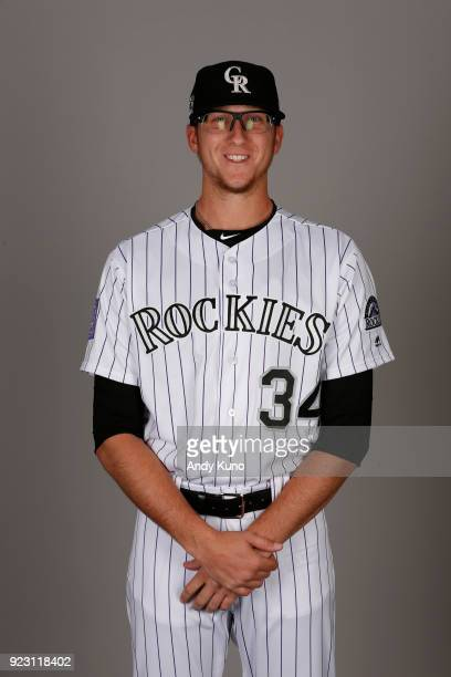 Jeff Hoffman of the Colorado Rockies poses during Photo Day on Thursday February 22 2018 at Salt River Fields at Talking Stick in Scottsdale Arizona