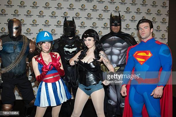 Jeff Holland Riki Lecotey Adam Prince Elizabeth Wither Eric Moran and Jonathan Carroll as Deathstoke USO Captain America dancer Dark Knight Batgirl...