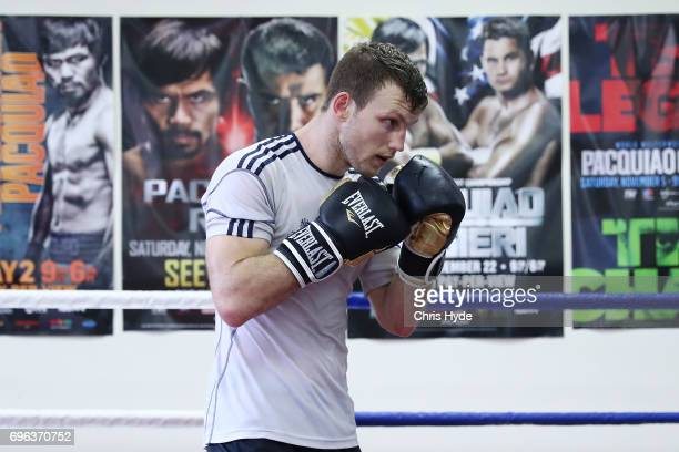 Jeff Horn during a training session on June 15 2017 in Brisbane Australia