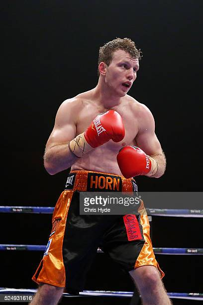 Jeff Horn of Australia in action against Randall Bailey of the USA during their Welterweight bout on April 27 2016 in Brisbane Australia