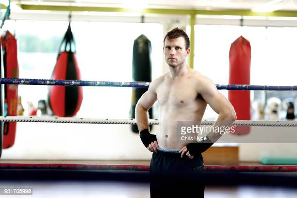 Jeff Horn poses for a portrait during a training session at Dundees Gym on March 14 2018 in Brisbane Australia f