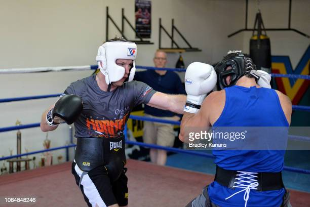 Jeff Horn spars at a training session on November 08 2018 in Brisbane Australia