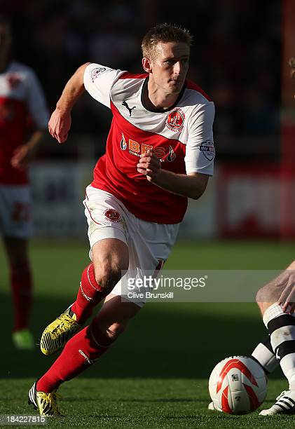 Jeff Hughes of Fleetwood Town in action during the Sky Bet League Two match between Fleetwood Town and Chesterfield at Highbury Stadium on October 12...