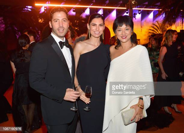 Jeff Jaeger Kristen Jaeger and LACMA Curator Christine Y Kim attend 2018 LACMA Art Film Gala honoring Catherine Opie and Guillermo del Toro presented...