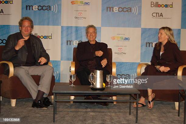 Jeff Jampol manager of the Doors Ray Manzarek of the Doors and Tamara Conniff of Billboard at the Billboard MECCA Fall 2006 session at the CTIA...