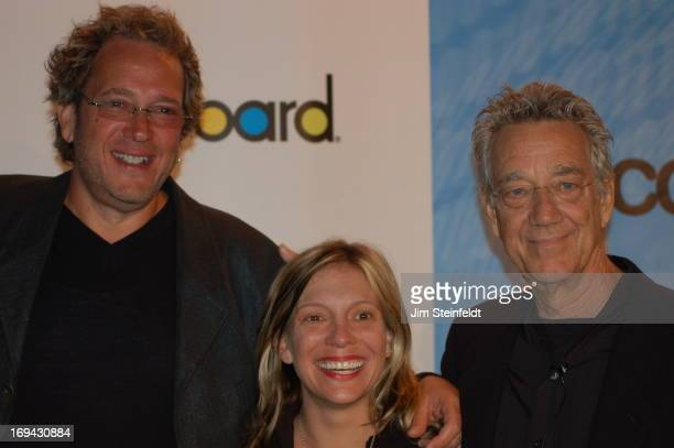 Jeff Jampol manager of the Doors Tamara Conniff of Billboard and Ray Manzarek of the Doors at the Billboard MECCA Fall 2006 session at the CTIA...