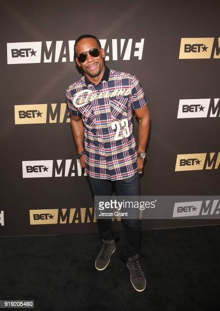 Jeff Johnson attends BET Network's 'Mancave' Event at Goya Studios on February 16 2018 in Los Angeles California