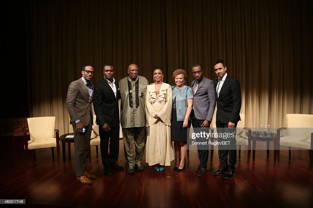 Jeff Johnson, Lyriq Bent, Louis Gossett Jr., Aunjanue Ellis, Debra L. Lee, Clement Virgo and Damon D'Oliveira attend 'The Book of Negroes' screening reception at The National Archives on January 22, 2015 in Washington, DC.