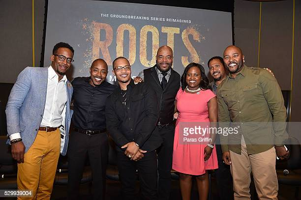Jeff Johnson Will Packer Tip TI Harris Ed Lover Tamarre Torchon Dr Samuel Livingston and Ryan Cameron attend HISTORY's Roots Atlanta advanced...