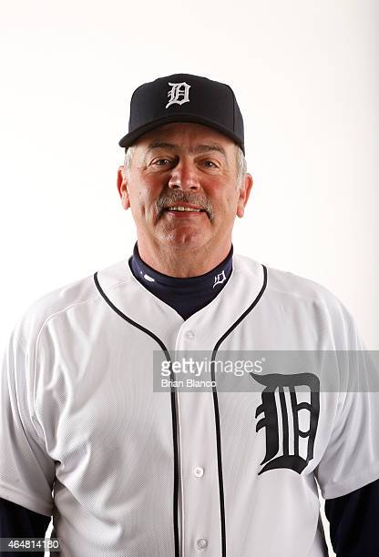 Jeff Jones of the Detroit Tigers poses for a photo during the Tigers' photo day on February 28 2015 at Joker Marchant Stadium in Lakeland Florida
