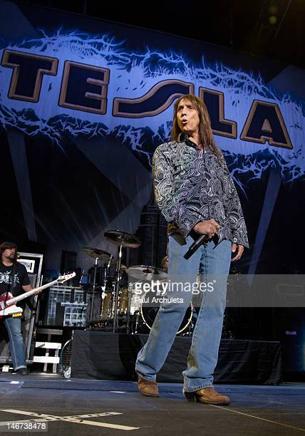 Jeff Keith of the Rock Band Tesla performs in concert at Staples Center on June 22 2012 in Los Angeles California
