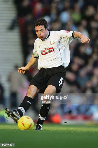 Jeff Kenna of Derby County during the CocaCola Championship match between West Ham United and Derby County at Upton Park on January 23 2005 in London...