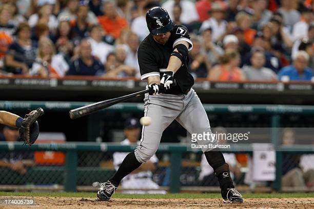 Jeff Keppinger of the Chicago White Sox bats against the Detroit Tigers at Comerica Park on July 10 2013 in Detroit Michigan