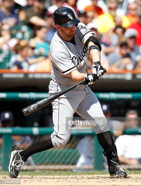 Jeff Keppinger of the Chicago White Sox bats against the Detroit Tigers at Comerica Park on July 11 2013 in Detroit Michigan