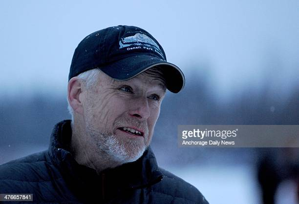 Jeff King talks about the trail from Rainy Pass to Nikolai at the Nikolai checkpoint during the 2014 Iditarod Trail Sled Dog Race on Tuesday March 4...