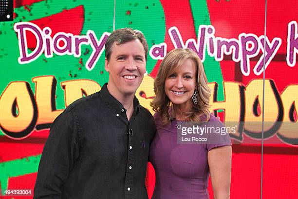 AMERICA Jeff Kinney author of Diary of a Wimpy Kid is a guest on Good Morning America 10/26/15 airing on the Walt Disney Television via Getty Images...