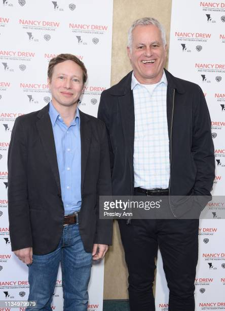 Jeff Kleeman and Chip Diggins attend the red carpet premiere of 'Nancy Drew and the Hidden Staircase' at AMC Century City 15 on March 10 2019 in...