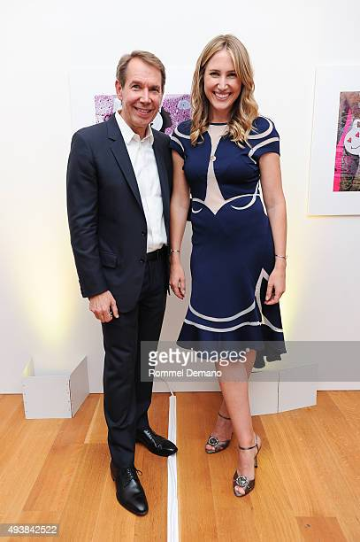 Jeff Koons and Alison Brokaw attend Gus Al Party Launching #yes Collection including Jeff Koons Limited Edition Collaboration on October 22 2015 in...