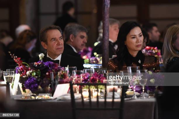 Jeff Koons and Wendi Deng attend the Berggruen Prize Gala at the New York Public Library on December 14 2017 in New York City
