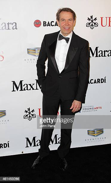 Jeff Koons attends the 2015 YoungArts Backyard Ball Ball Honoring Jeff Koons And YoungArts Alumni Josh Groban And Chris Young on January 10 2015 in...