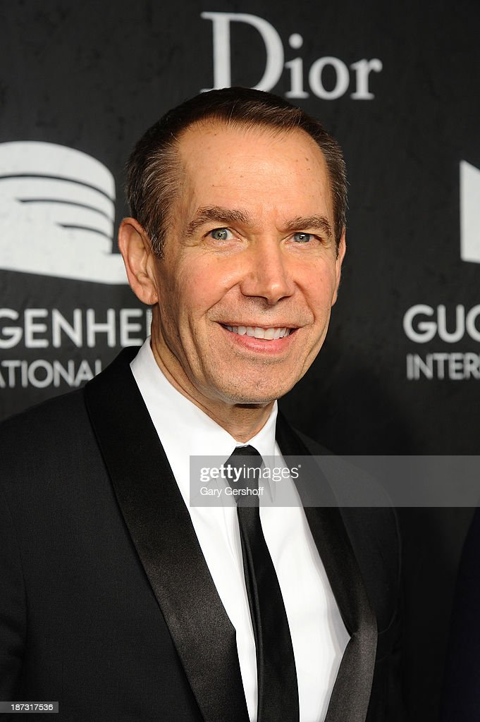 Jeff Koons attends the Guggenheim International Gala, made possible by Dior, at the Guggenheim Museum on November 7, 2013 in New York City.
